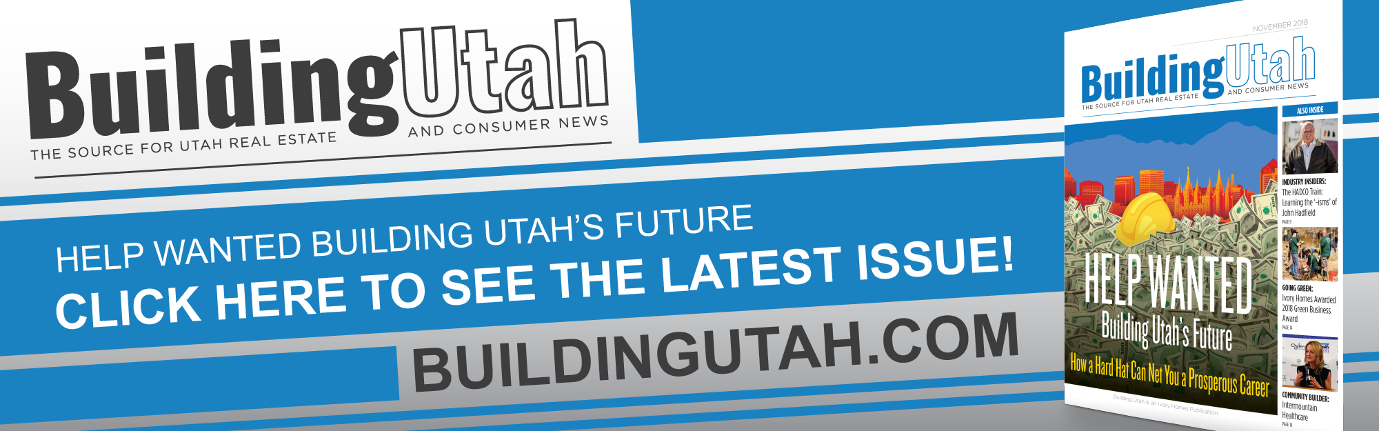 Ivory Homes Launches November Edition of Building Utah