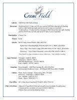 Fact Sheet of Cranefield Estates