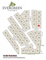 subdivision map of Evergreen Farms