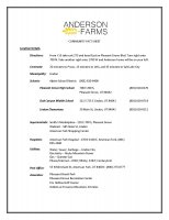 Anderson Farms Fact Sheet of Anderson Farms